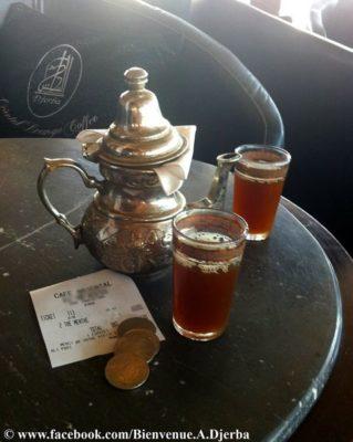 Thé à la menthe en tunisie