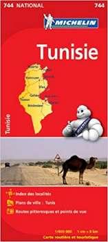 Carte Michelin Tunisie