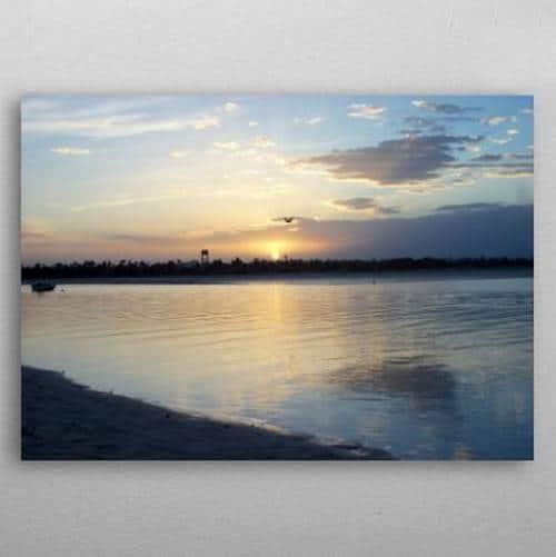 Displate Lagune de Djerba Coucher de soleil sur la Laune de Djerba