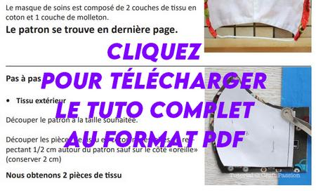 Tuto CH St Brieuc, fabriquer un masque de protection. Tuto et patron masque, PDF à télécharger